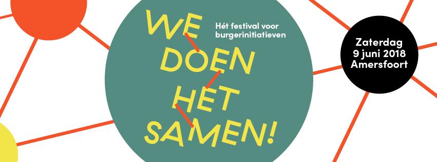 Zaterdag 9 juni: We doen het samen! Het festival van burgerinitiatieven